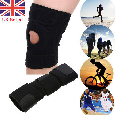 Black Neoprene Knee Support Strap Adjustable Open Patella Tendon Brace Sleeve