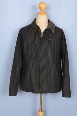 Mens BARBOUR Transport WAXED Jacket Navy Size 44