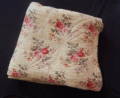 French Boutis / Vintage Quilt Provencal Traditional Cotton Barkcloth Prints Exce