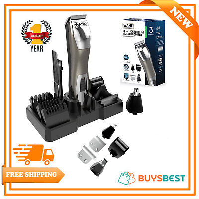 Wahl Chromium 14 In 1 Rechargeable Multi Groomer Trimmer Shaver Kit - 9855-2417