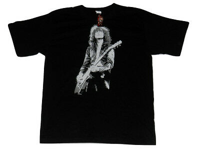 NEW! Jimmy Page Led Zeppelin Guitarist Zoso Black Cotton Band Tshirt Size XL NWT