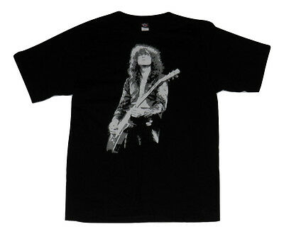 NEW! Jimmy Page Led Zeppelin Guitarist Zoso Black Cotton Band Tshirt Size L NWOT