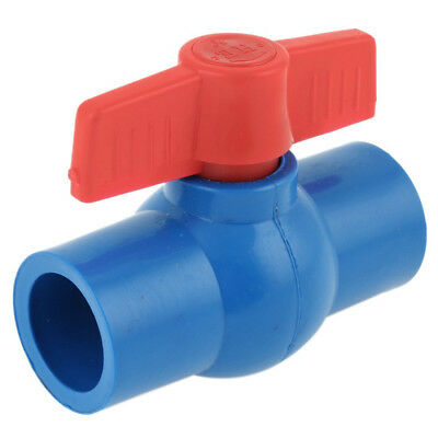 25mm Inner Dia Red Control Lever PVC Ball Valve Quick Adapter Blue D5E4