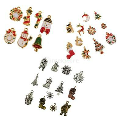 Enamel Xmas Themed Vintage Christmas DIY Charms Pendant Loose Beads Jewelry DIY
