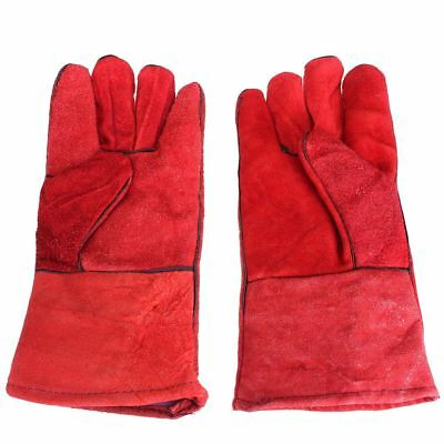 1 pair WELDERS Welding Glove Arc Tig Mig Welding leather work gloves 33cm J8B1