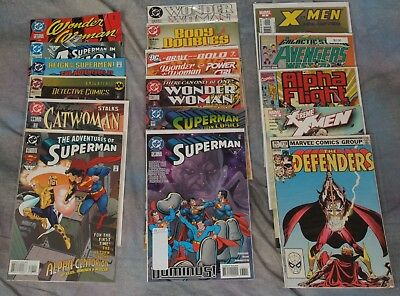 Lot of 17 DC and Marvel Comic Book