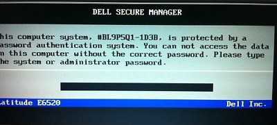 DELL Bios Unlock / Removal Type  D35B / 1D3B / 1F66 /6FF1