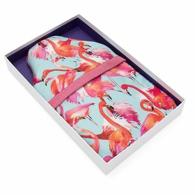 Dancing Flamingos Linen Tweed Luxury Cover 2 Litre Hot Water Bottle - Gift Boxed