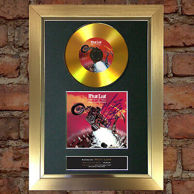 GOLD DISC MEATLOAF Signed Autograph CD & Cover Mounted Print A4 89
