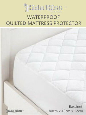 KIDZ KISS Waterproof Quilted Mattress Protector [Bassinet]