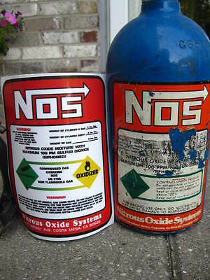 2 LB NITROUS BOTTLE Direct Replacement Decal NOS Label (Cover your old sticker)