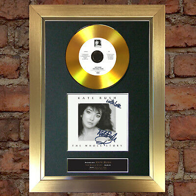 GOLD DISC KATE BUSH Signed Autograph CD & Cover Mounted Print A4 93