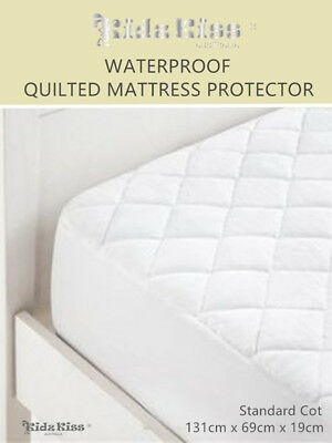 Kidz Kiss Bamboo Waterproof Quilted Fitted Mattress Protector Standard Cot