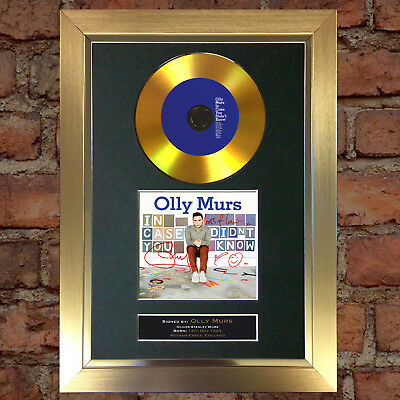 GOLD DISC OLLY MURS Signed Autograph CD & Cover Mounted Print A4 95