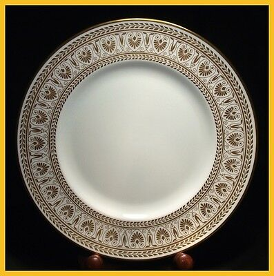 Crown Staffordshire Gold Victoria 10 3/4 Inch Dinner Plates - 1st Quality New