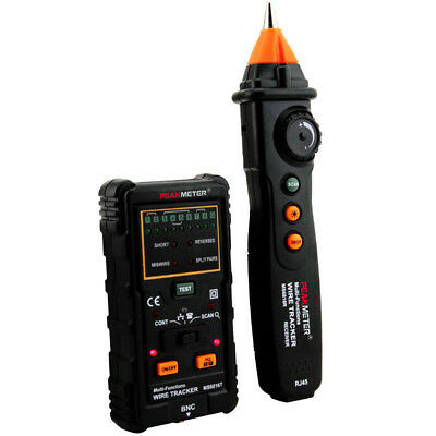 KE_ Multi-Function Wire Cable Tracker Tester Telephone Detector Line Finder Ra