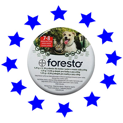Seresto/Foresto Flea & Tick Collar for Small Dogs & Cats up to 18lbs(8kg)
