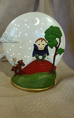 Humpty Dumpty Nursery Rhyme Ceramic Tabletop Night Light w Switch Room Decor