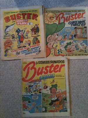 Buster Comic/ Buster and Monster Fun Job Lot 70s/80s 3 Issues