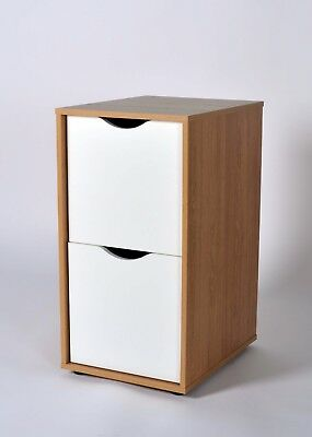 Bourne Storage Unit Filer in Oak and White Effect & STOCKTON LOUNGE Display and Storage Unit in Oak Effect - £64.22 ...
