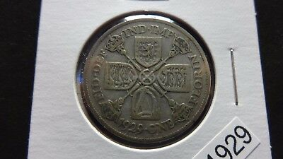UK GREAT BRITAIN 1929 One Florin ( two shillings ) .500 SILVER