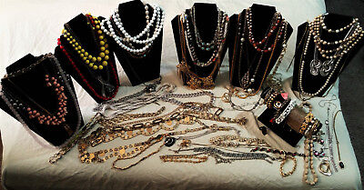 Large Mostly Vintage Lot Of Costume Jewelry Nice  Lot 2