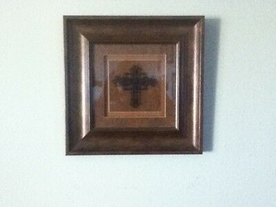 BEAUTIFUL Wall Hanging CROSS picture Home decor BY DECOR WORKS
