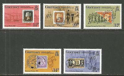 Guernsey 1990 Penny Black 150th Anniversary--Attractive Topical (426-30) MNH