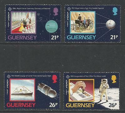 Guernsey 1991 Europa/Space--Attractive Science Topical (449-52) MNH