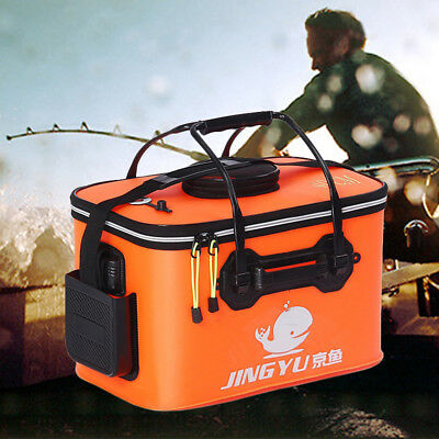 KE_ Portable Collapsible Folding Fishing Bucket Outdoor Barrel Camping Travel