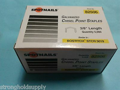 "Spotnails 82506 Staples 3/8"" Length For Bostitch H30-8 Hammer Tacker STCR 5019"