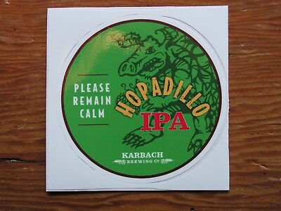 Karbach Brewing Company IPA Sticker ~NEW Craft Beer Brew Logo Brewery Decal~