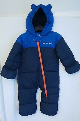 Fab baby boys blue Dare2b snowsuit/pramsuit/All-in-one/coat  0-6 months