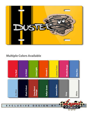 """1970 - 1974 Plymouth Duster """"Dust Twister"""" Novelty 6 x12 Aluminum License Plate"""