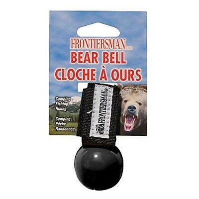 Frontiersman Bear Bell with Magnetic Silencer Black
