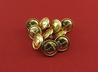 Russian Navy Metal Buttons Small Size Military Uniform, 10 Pieces