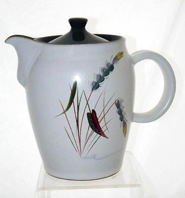 Denby Pottery Greenwheat Pattern Large Two Pint Coffee Pot made in Stoneware