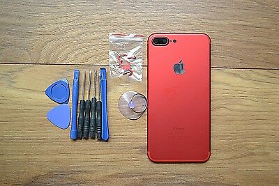 FULL COMPLETE ALLOY METAL BACK HOUSING FRAME CASE COVER FOR iPhone 7& 7 Plus Red