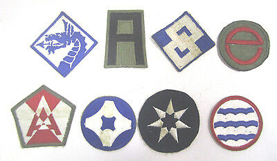 Vintage WW2 Military Cloth Patch Lot Of (8) Army Air Corp Navy Marines  (H)