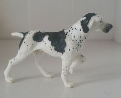 English Pointer Akc Dog Figure German short hair haired black white figure doll