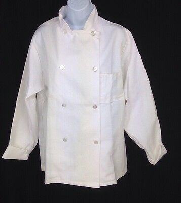 Kitchen Krew Chef Coat S Unisex White Flip Cuff Sleeve Pocket