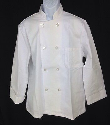 Fashion Seal Chef Coat M Basic Unisex White Flip Cuff Double Breasted