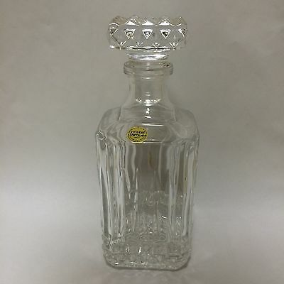 France 24% Leaded French Crystal Cristal d'Arques Art Glass Decanters darques