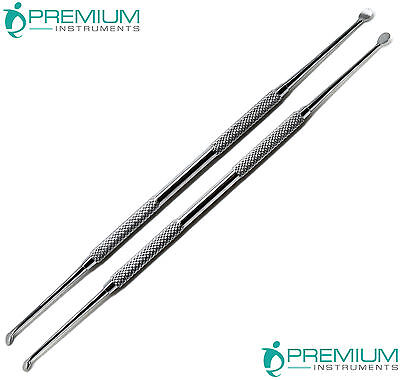 Dental Molt Curette Surgical Curettage Cyst Removal Debridement UPGRADE Set of 2