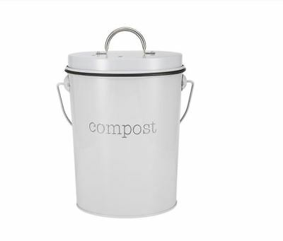 Compost Bin Garden Waste Domestic Disposal Outdoor Trash Can with Lid