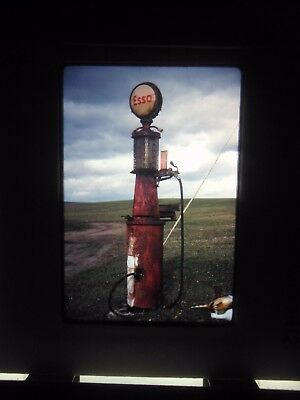 Original slide Gas Pump Visible sign globe fuel East Point PA ESSO vintage old