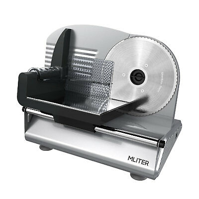 """7.5""""Blade 150W Commercial Meat Slicer Electric Deli Cheese Veggie Cutter Kitchen"""