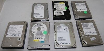 LOT OF 7 250GB Desktop SATA Hard Drives Mixed Brand TESTED