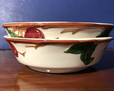 "Franciscan APPLE American Back Stamp Lot Of 2 Vegetable Serving Bowls ~ 7"" Exc"