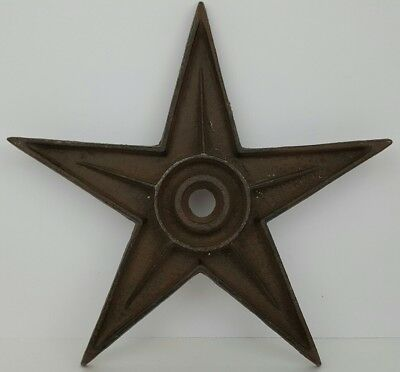 "Vintage Black Cast Iron Building Metal 9"" Star Architectural Salvaged"